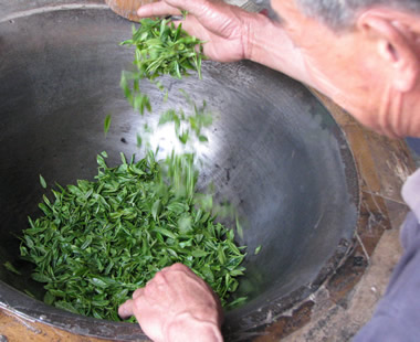 Long Jing Pan Firing Processing